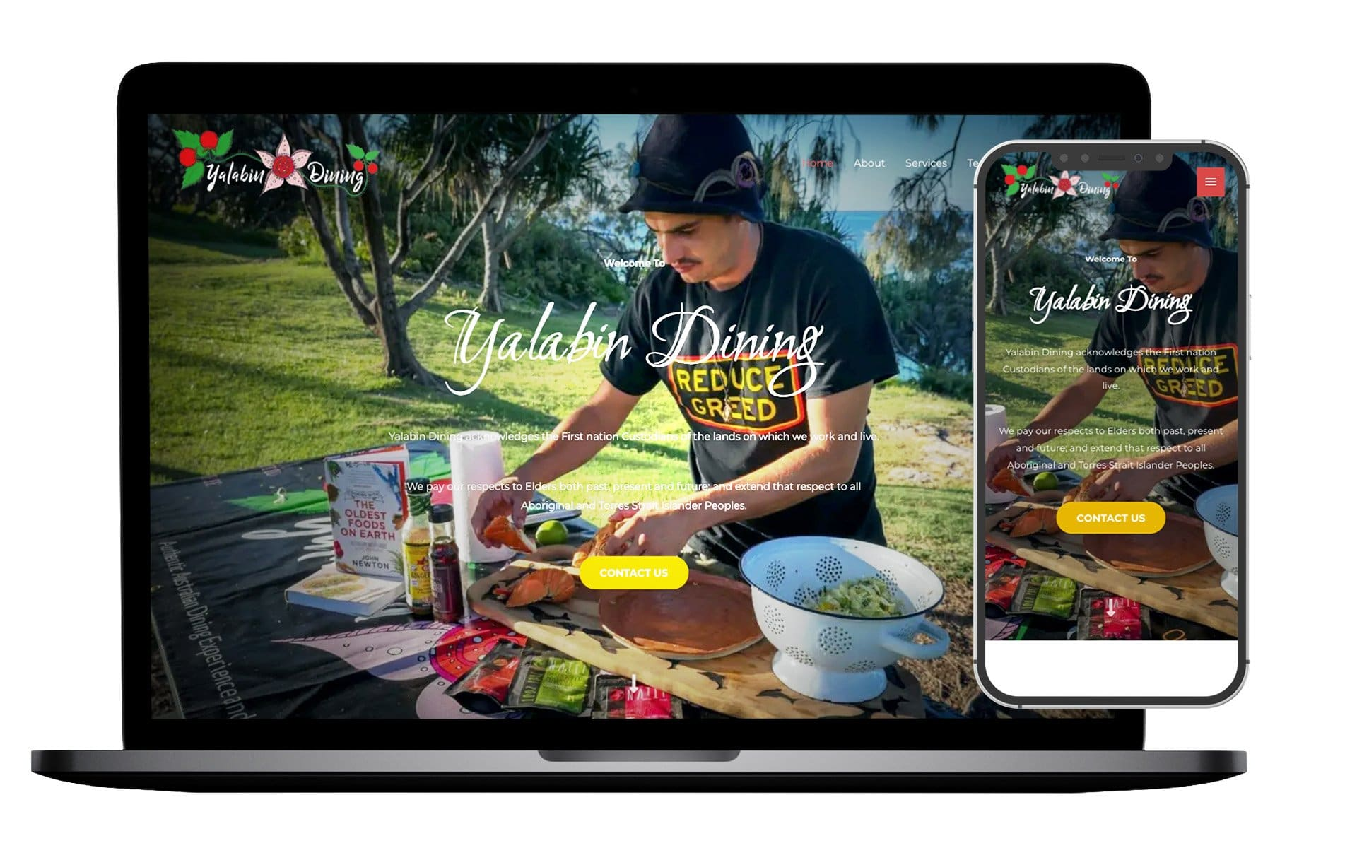 Yalabin Dining Website Design