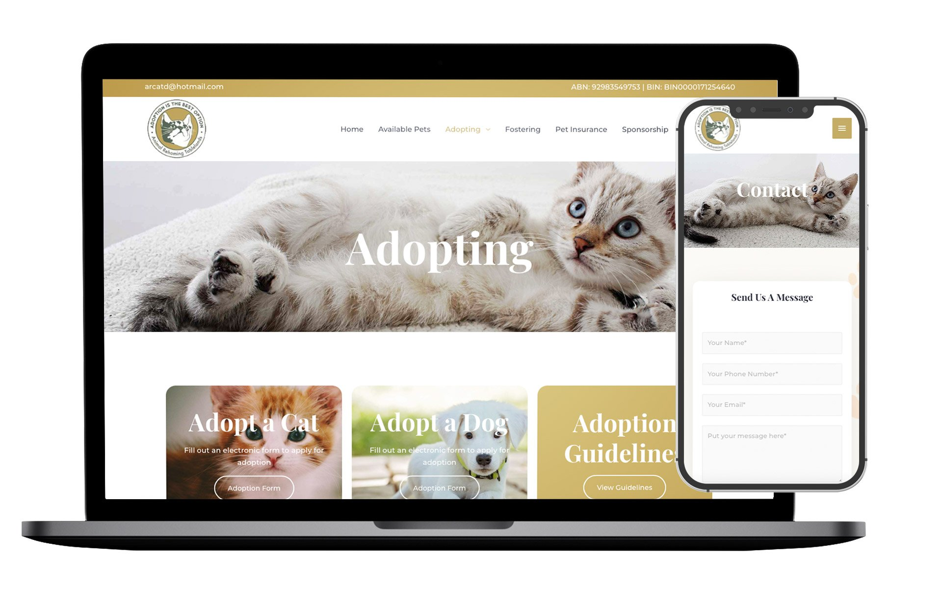 ARCAT Website Design