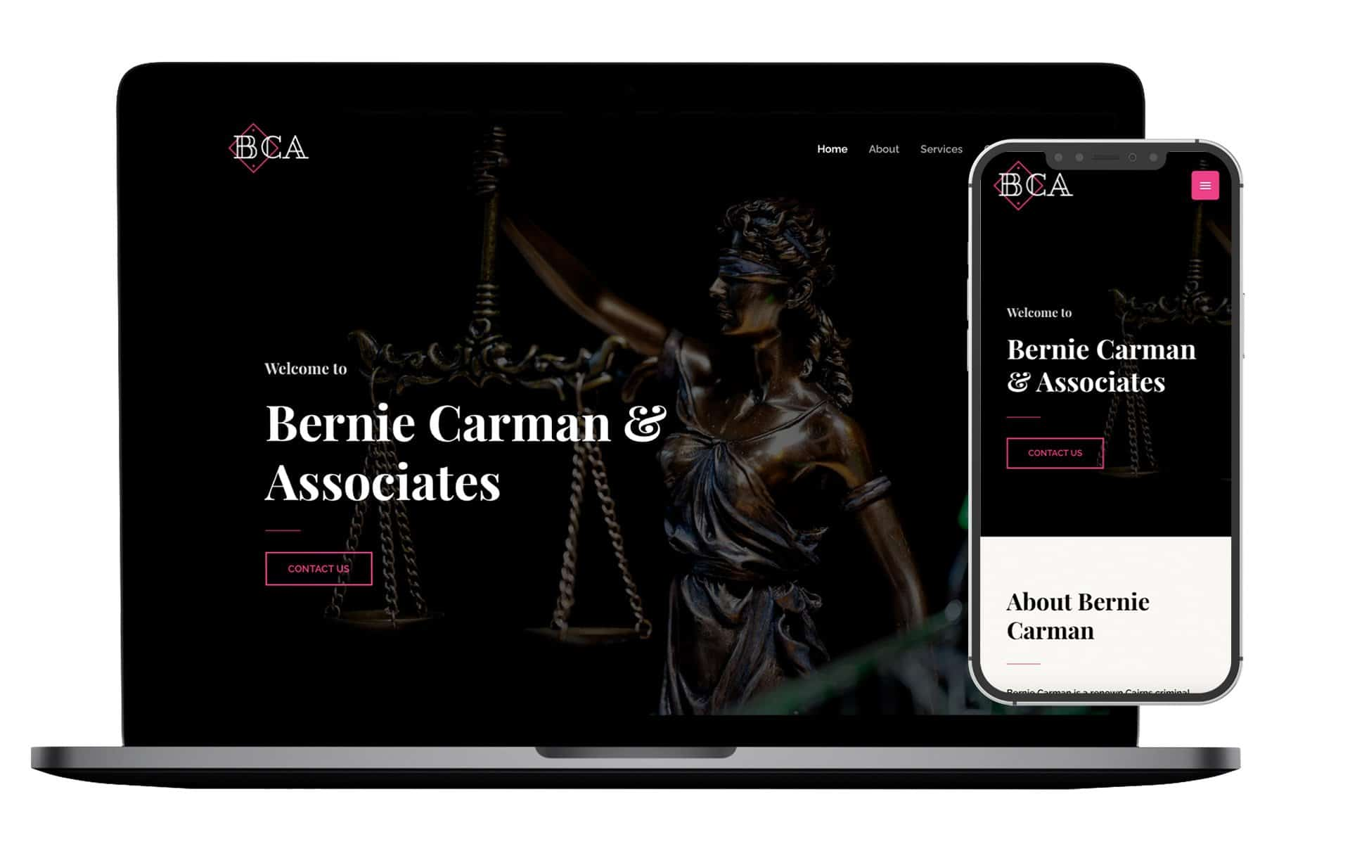 Bernie Carman and Associates Website Design