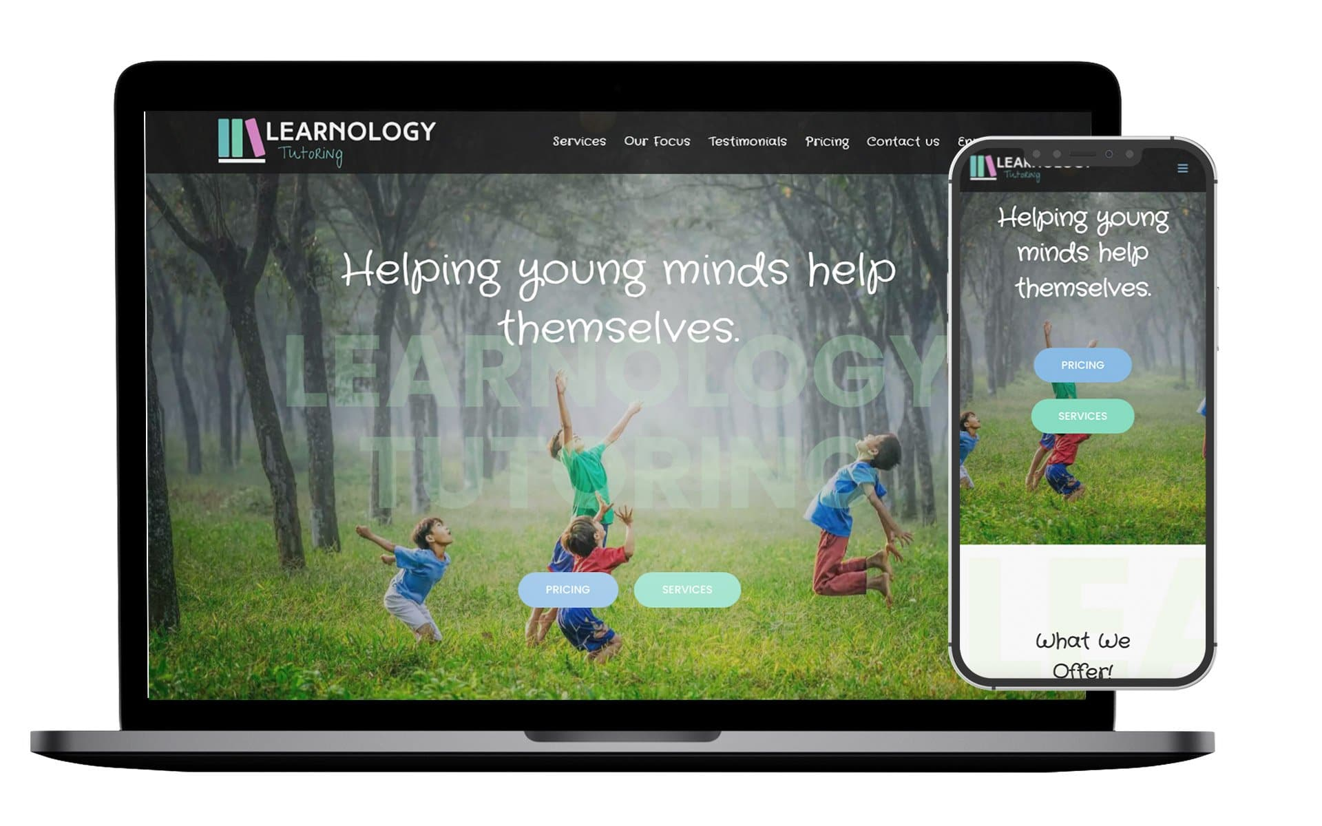 Learnology Tutoring Website Design