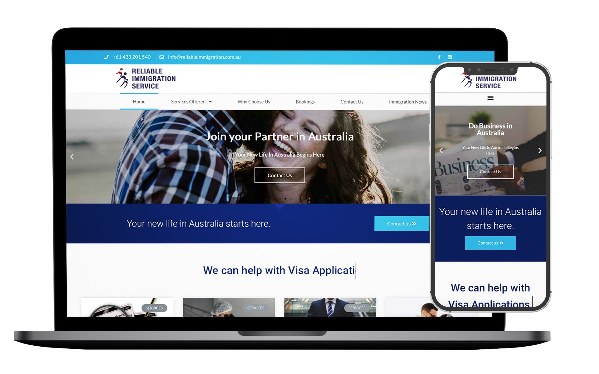 Reliable Immigration Website Design
